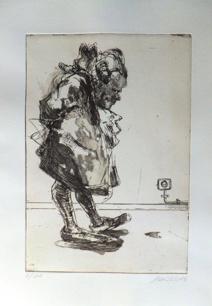 Radierung von Martin Konietschke zu Lichtenberg