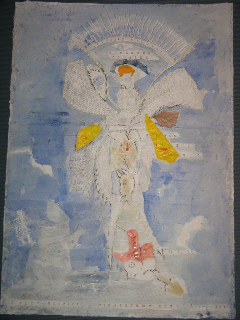 Papierschöpfarbeit von Barbara Beisinghoff